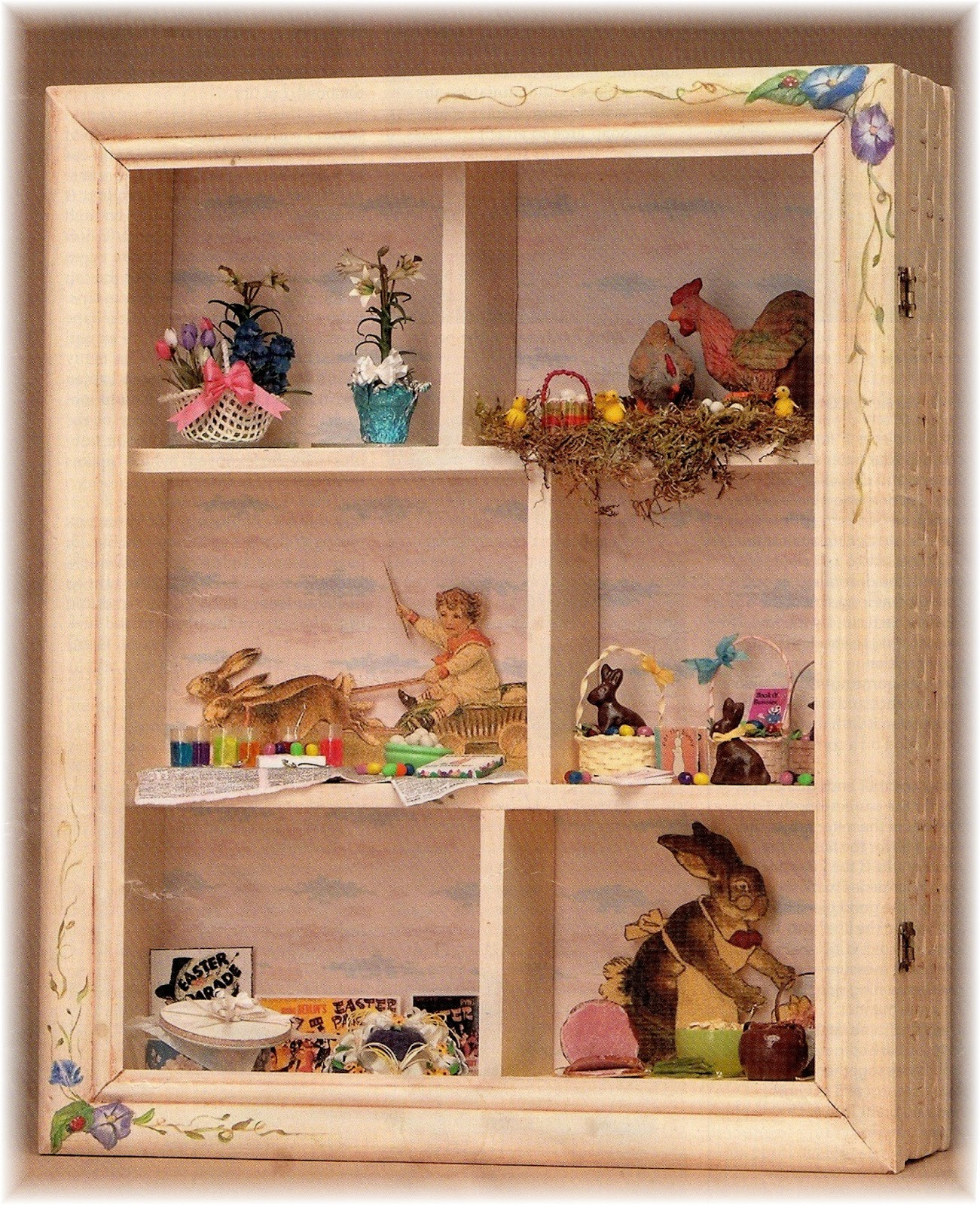 Dyi Dollhouse Miniatures Easter In A Shadow Box