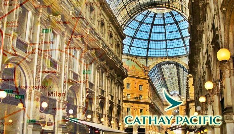 國泰航空Cathay Pacific【直航歐洲】優惠,米蘭、羅馬、蘇黎世、倫敦、曼徹斯特$4,995起,6月前出發。