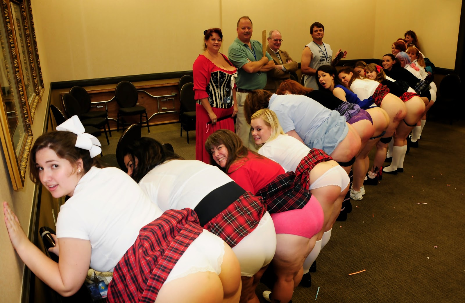 @ spanking party Lots of naughty bottoms at the Naughty Schoolgirl Party