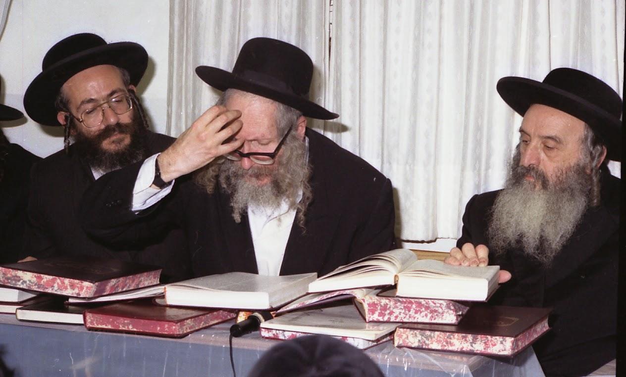הרב אליעזר ברלנד עם הרב משה הלברשטאם