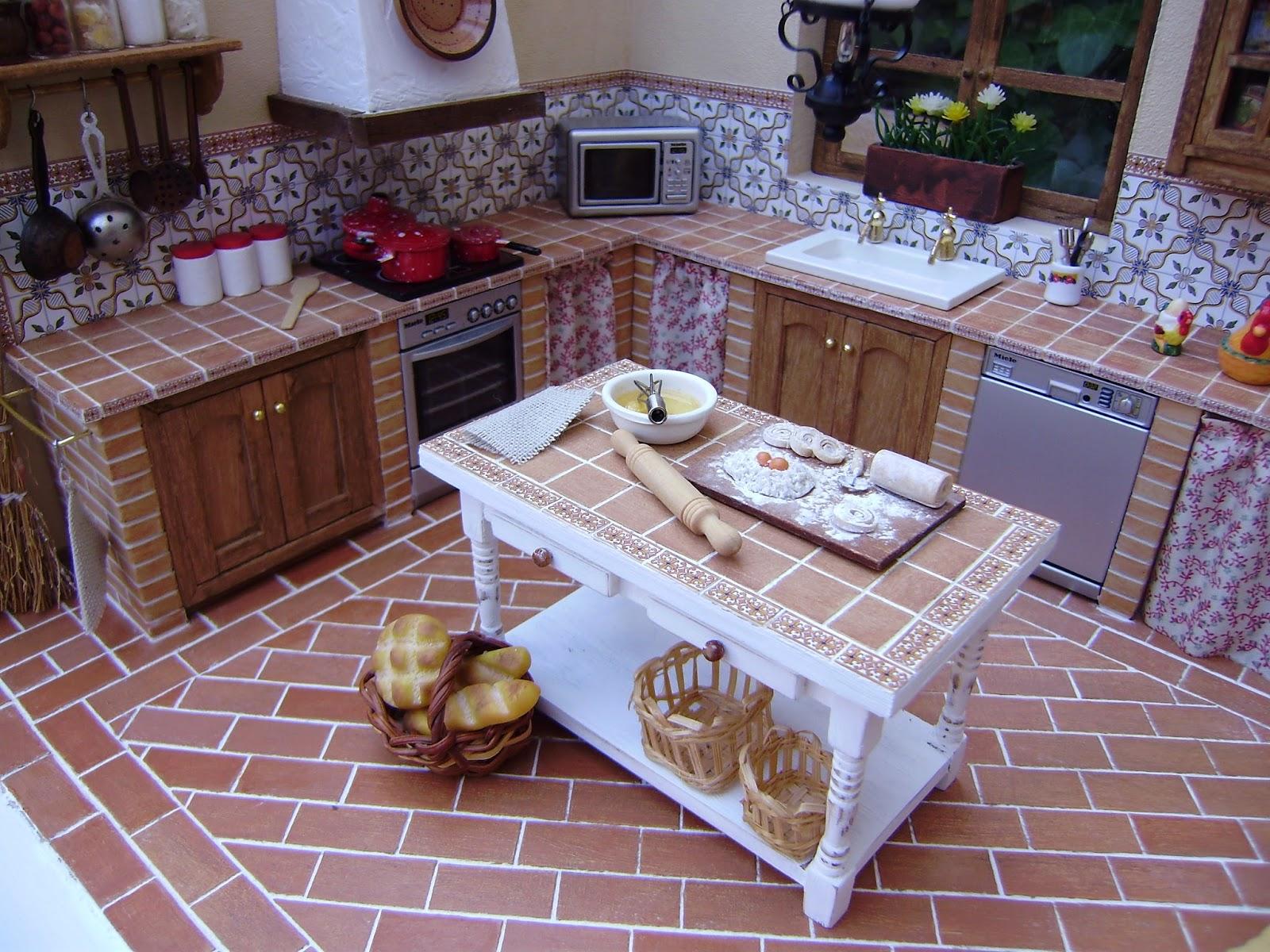 Sin parar de trastear mi nueva cocina r stica for Cocinas rusticas de obra