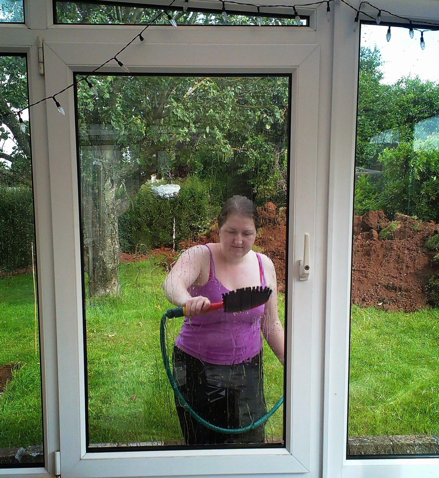 Cleaning the conservatory