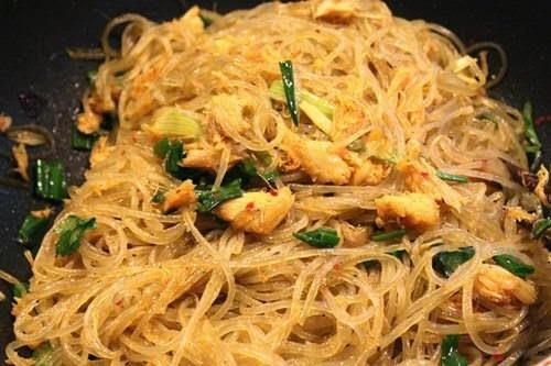 Vietnamese Noodle Recipes - Miến Xào Cua