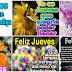 Feliz Jueves - Hermosas tarjetas animadas gif para pegar en facebook.