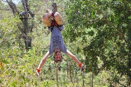 Ziplining Fun