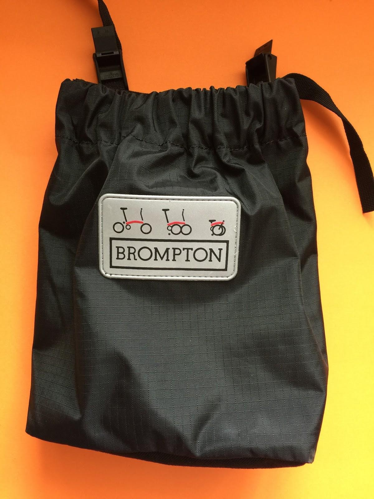 My Orange Brompton Brilliant Brompton Cover With Saddle Bag