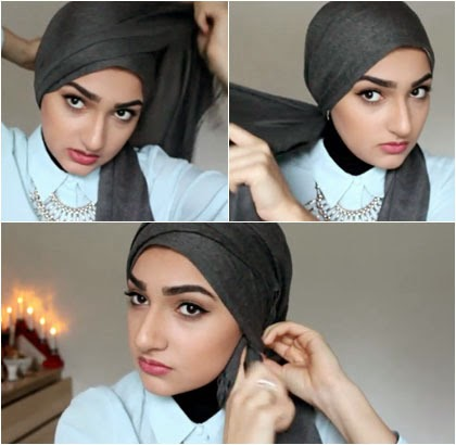 Tutorial Hijab Turban Simple Tampil Cantik Tanpa Jarum 2