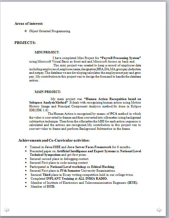 computer resume sample teacher