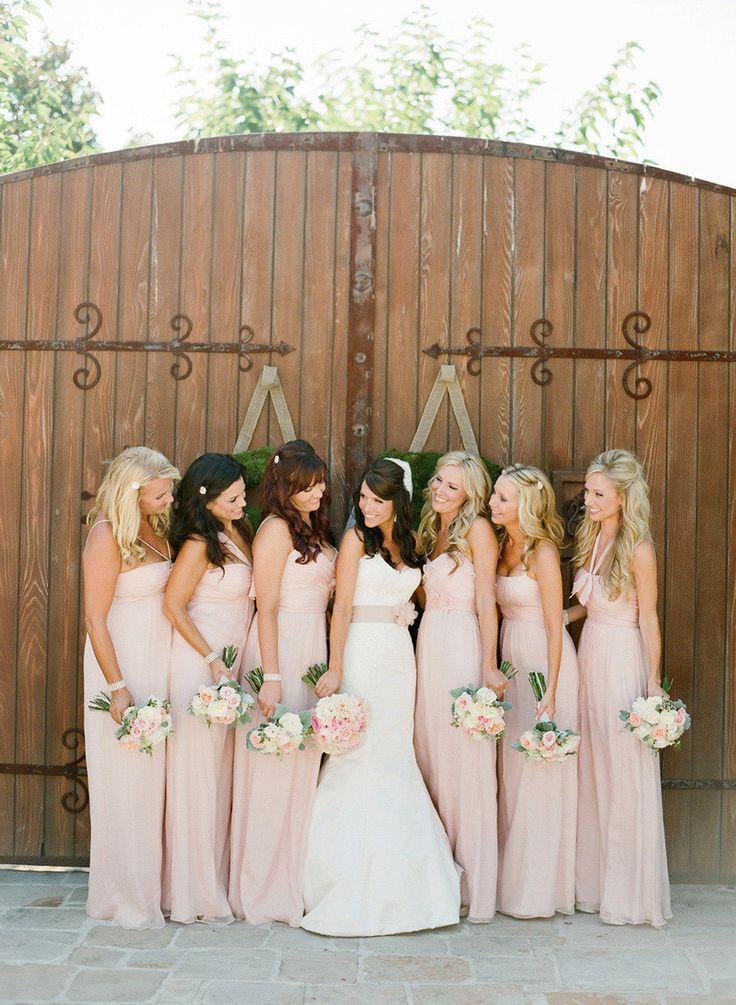 Same dress different styles bridesmaid dresses