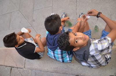 Niños saharauis en verano en España