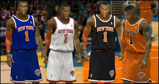 Knicks New Jersey Patch for NBA 2K13