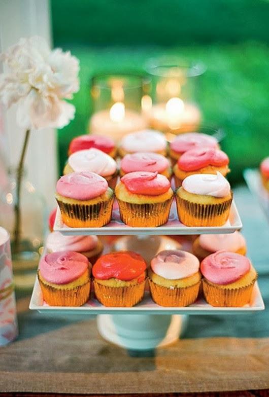 wedding ideas beautiful red wedding cupcakes