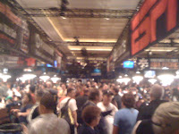 The rail is packed for the start of Day 1a of the 2012 WSOP Main Event