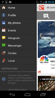 how to start a google+ hangout on android