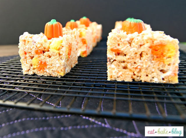 pumpkin spice rice krispy treat recipe