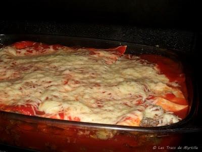 lasagnes à la bolognaise sans sauce béchamel (voir la recette)