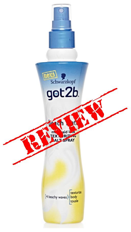 schwarzkopf got2b beach matt texturizing salt spray review