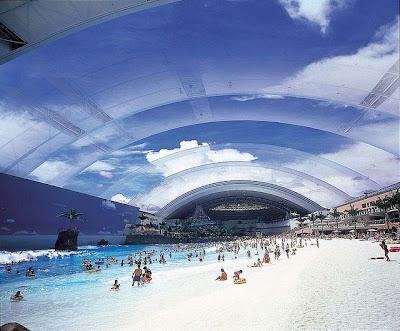 ocean dome 2%5B3%5D  قٌبة المحيط  أكثر الشواطئ الأصطناعية شعبية ، تخيل وكإنك امام شاطئ حقيقي !