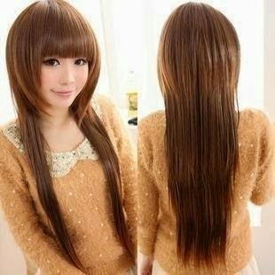 gambar model potongan rambut panjang