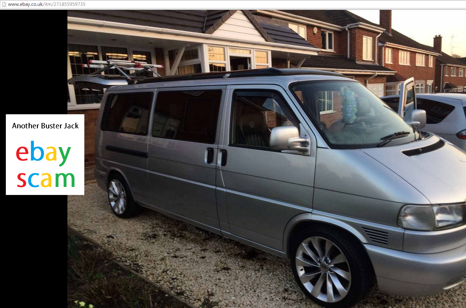 EBAY SCAM : 2002 VW T4 2.5 TDI CAMPERVAN | SK52TCV - Fraud