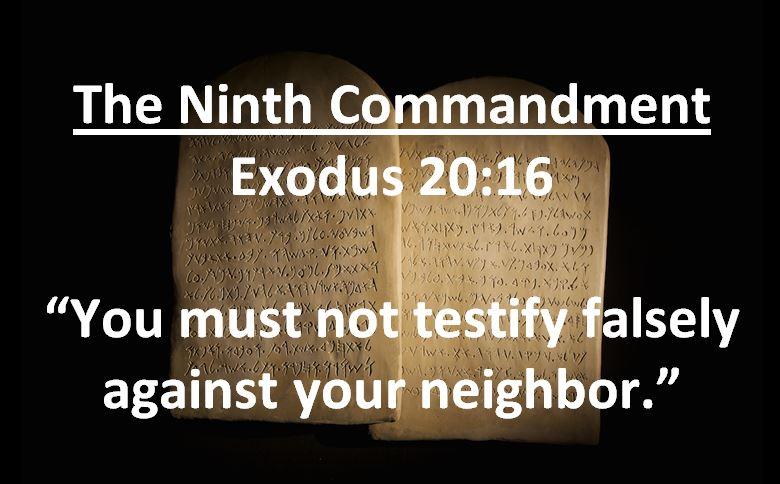 Pastor Chris' Blog: The Ninth Commandment