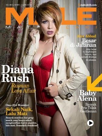 MALE Mata lelaki Edisi 83 Cover Model Diana Rush