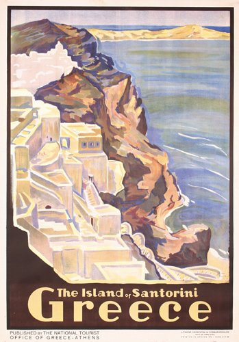 Vintage Travel Posters Greece