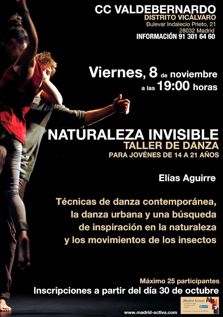 Taller de danza en Valdebernardo, 8 de noviembre