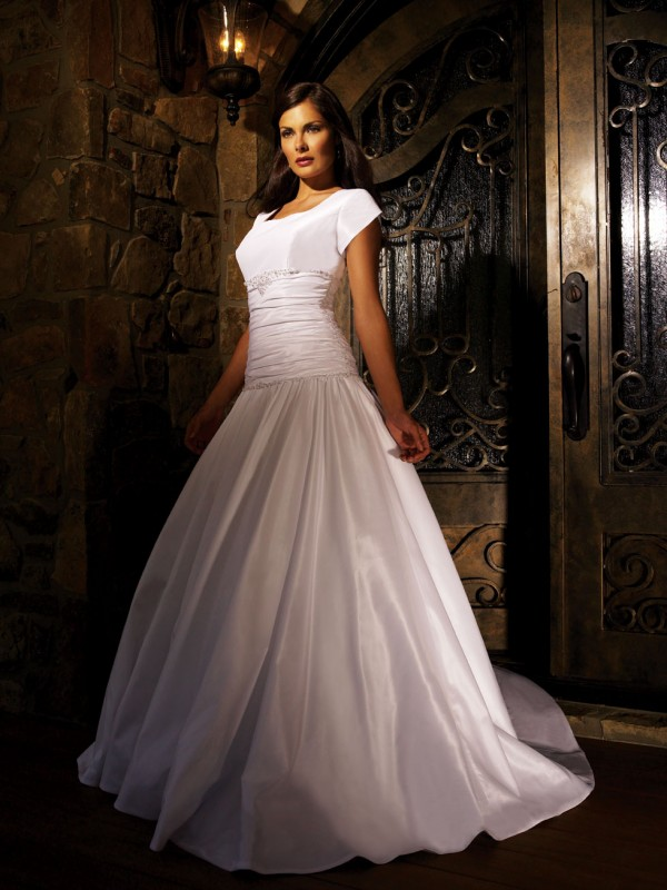 Gorgeous modest wedding dress wedding dresses simple for Modest dresses to wear to a wedding