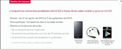Gana muchos premios con el concurso del LG G2
