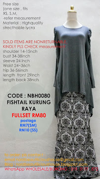 (ALL SOLDOUT) NBH0080 FISHTAIL KURUNG FULLSET
