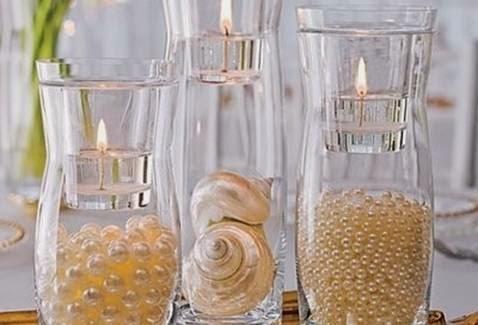 Decoração das bodas de pérola