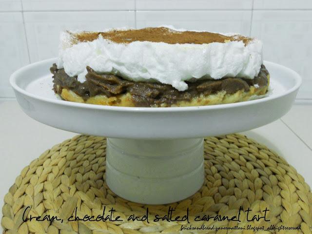 cream, chocolate and salted caramel tart_dairy-free destrutturata.
