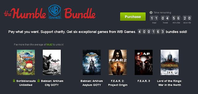 Nuevo Humble Bundle de juegos de Warner Bros Games