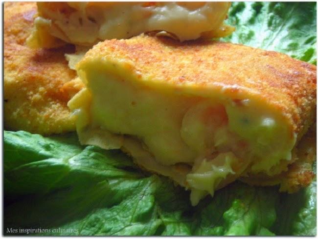 Recette Crêpes panées aux crevettes et fromage