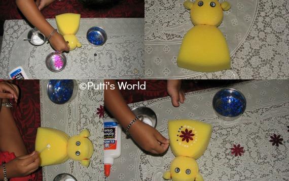 DIY Sponge Doll kids