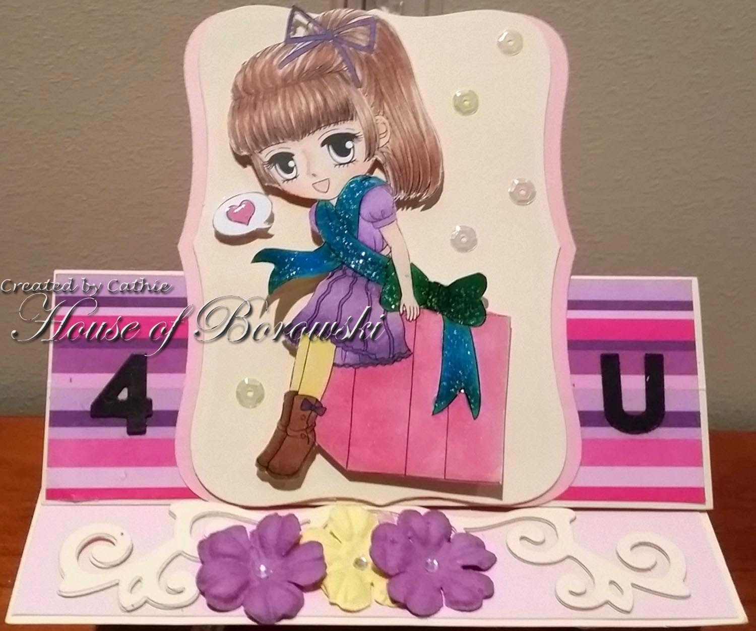 Art by Miran birthday surprise, elizabeth craft designs, spellbinders