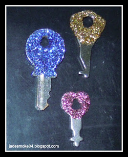 DIY Sparkling Keys