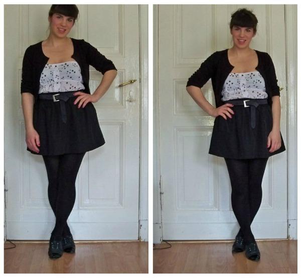 30 Kleidungsstücke für 30 Tage ergeben 30 verschiedene Outfits Tag 19