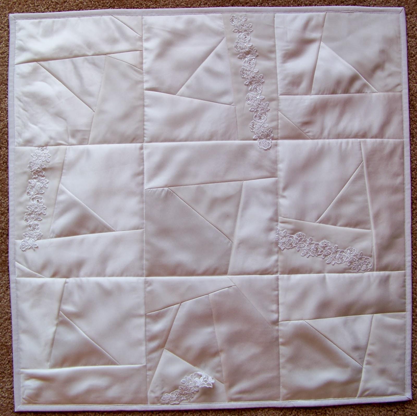 Wedding Dress Upcycled into Quilt | Debbie Lange Quilting : wedding dress quilts - Adamdwight.com