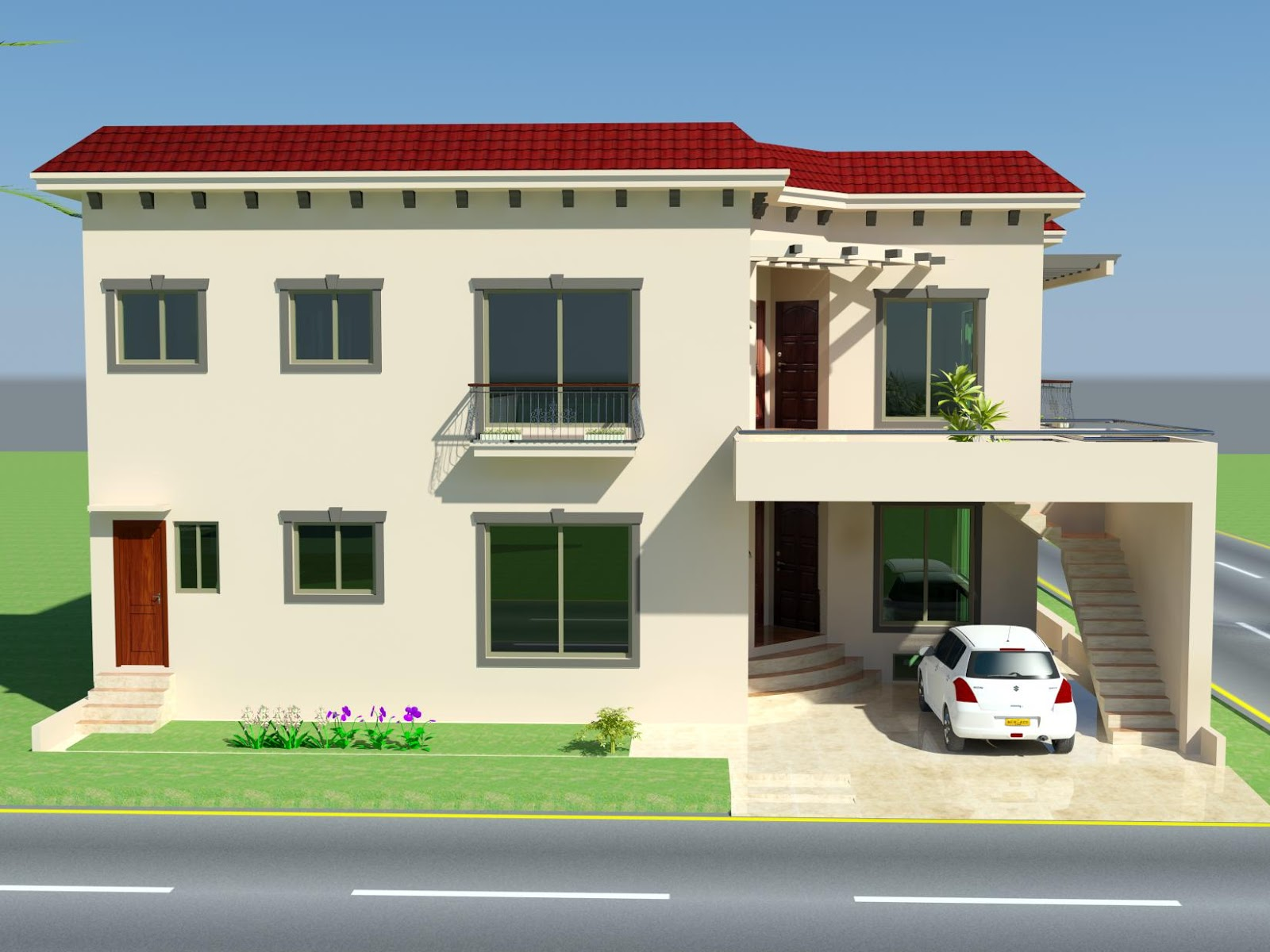 3d front 10 marla plan house design in for 10 marla home designs in pakistan