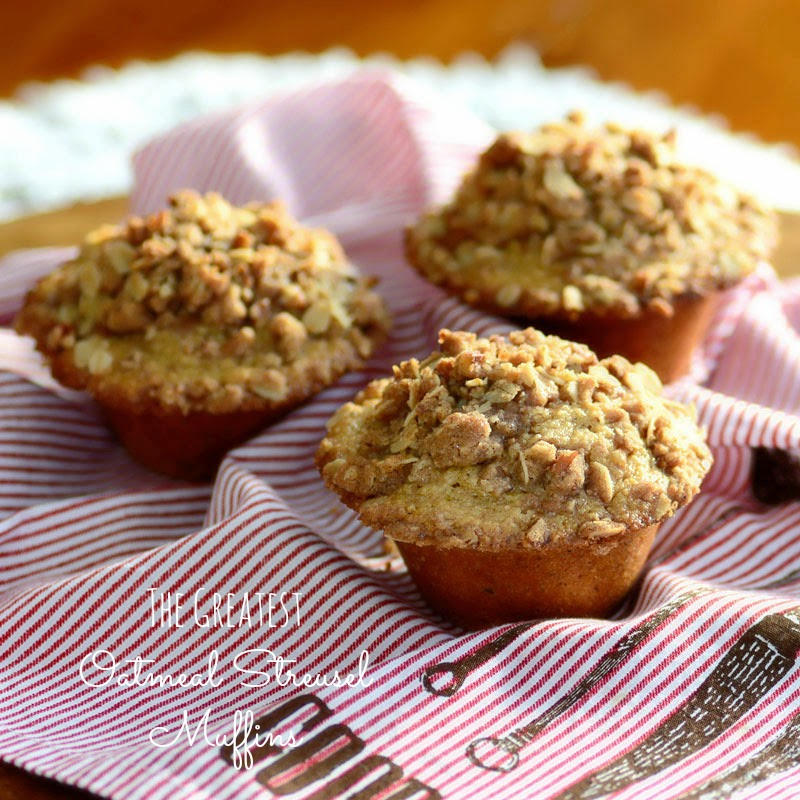 The Greatest Oatmeal Streusel Muffins