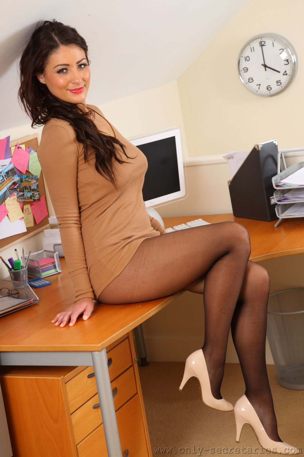 Women in black nylons