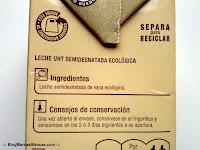 Ingredientes de la leche ecológica semidesnatada Carrefour BIO:
