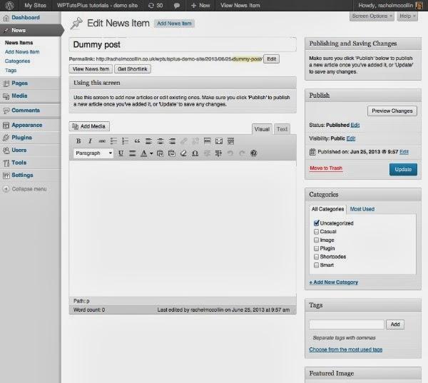 Customizing the WordPress Admin: Help Text