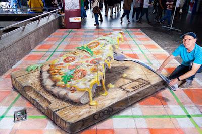 3d street art - zurich art - pavement paintings 3d