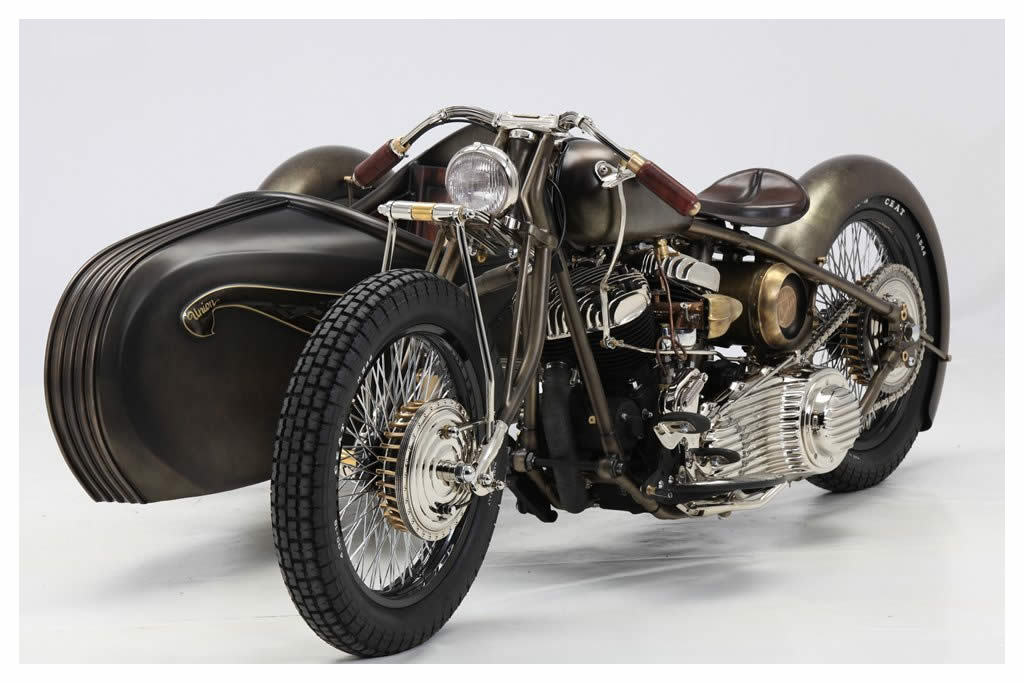 Harley-Davidson 1942 Flathead (1956 Side-car)