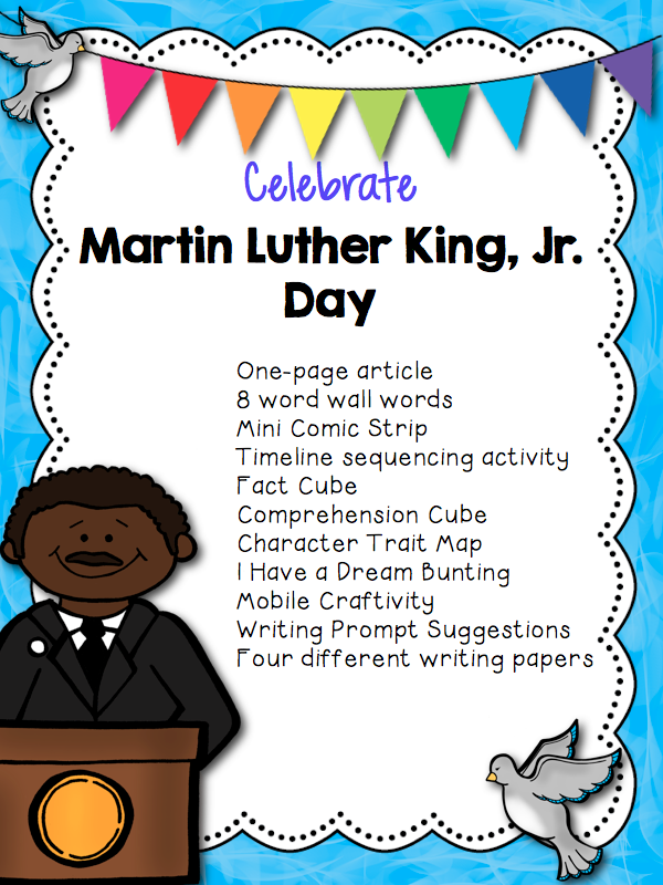 http://www.teacherspayteachers.com/Product/Martin-Luther-King-Materials-1642907