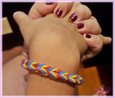 pulseira Rainbow Loon