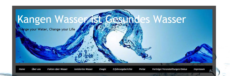 Kangen Wasser - Gesundes Ionisiertes Wasser